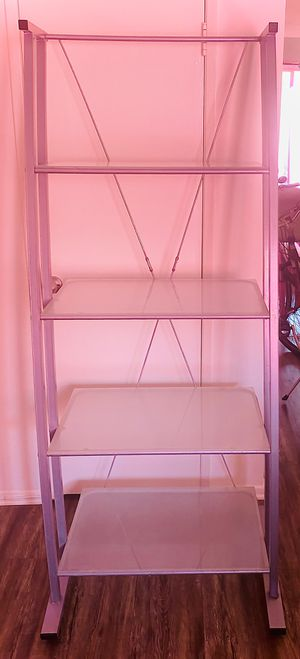 Frosted Glass & Metal Bookshelf $30 OBO for Sale in North Hollywood, CA