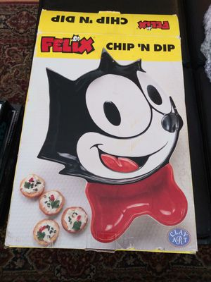 1999 CLAY ART FELIX THE CAT CHIP N DIP for Sale in Gaithersburg, MD