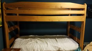 Wooden bunk bed for Sale in Doylestown, PA