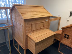 Lovupet 9.1ft Wooden Backyard Chicken Coop Hen House with Outdoor Run and Nesting Box 0388 for Sale in Commerce, CA