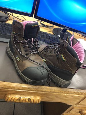 Women work boots steel toe/met guard for Sale in Bedford, TX