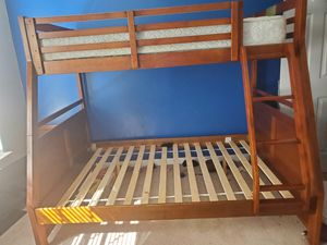 Twin/Full Bunk bed frame with twin mattress for Sale in Aldie, VA