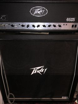 Peavey 6505 120 watt amp 4x12 cabinet 1 1/2 year old never turned above 3 volume for Sale in San Angelo,  TX