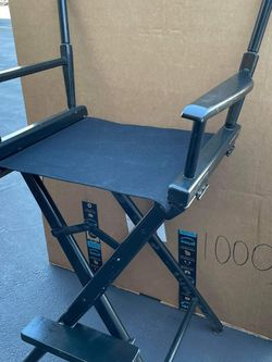 "Director's Chair ,Black Frame/Black Canvas,30"" - Bar Height $150 for Sale in Garden Grove,  CA"