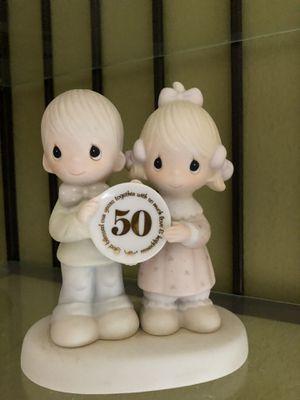 Precious moments porcelain 50th anniversary for Sale in Dallas, TX