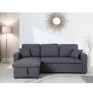 Grey Linen Sectional Sofa W/ Storage Ottoman for Sale in Norwalk, CA