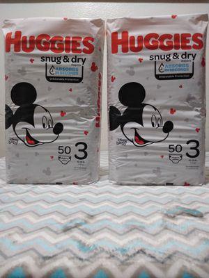 Huggies snug &dry size 3 for Sale in Riverside, CA
