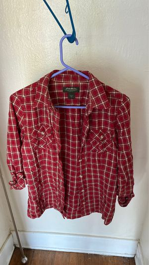 Moving sale! Eddie Bauer size small women's flannel button down for Sale in Seattle, WA