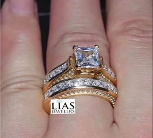New 14 k yellow gold wedding ring set engagement ring for Sale in Sunrise, FL