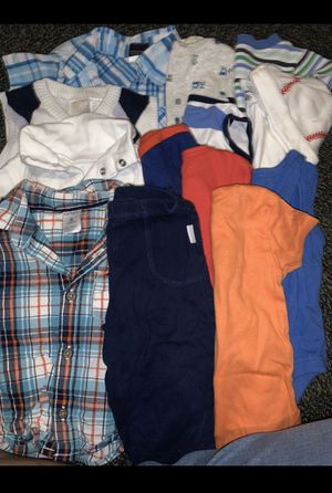 3-6 months Baby Boy Clothes w/ mits, sock, shoes etc for Sale in Bakersfield, CA