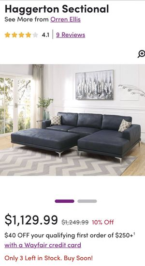 SECTIONAL SOFA - NEW for Sale in Tinton Falls, NJ