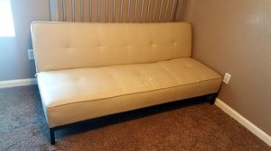Faux leather futon $75obo for Sale in Clovis, CA