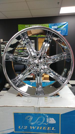 "26"" Rims Dodge 1500 RAM Chrome Big Lip 5x139.7 5x135 5x5.5 for Sale in Tacoma, WA"