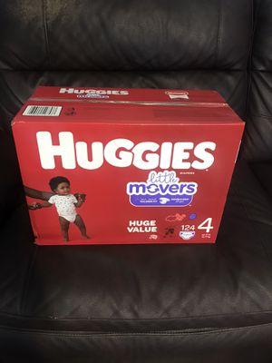 Huggies Little movers zise 4 ( 124 Diapers new box for Sale in Phoenix, AZ