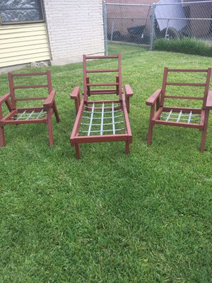 Vintage Redwood Patio furniture for Sale in Garland, TX