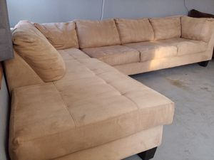 Clean Tan Sectional Couch/Sofa FREE DELIVERY !! for Sale in Orange, CA
