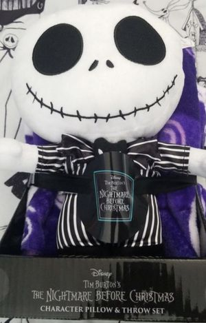 Jack nightmare before Christmas plush and throw for Sale in Rancho Cucamonga, CA