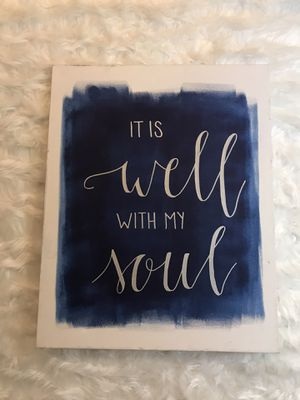 It is well with my soul canvas original for Sale in Lawrence, KS