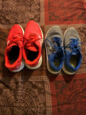 Regular Size 6 NOT 6Y. Gray n blue champions. Orange Red Adidas. Both size 6 not 6Y for Sale in Cape Coral, FL