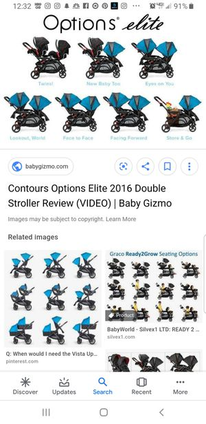 Contours Options Elite Double Stroller with Car Seat Adapter for Sale in Glendale, CA
