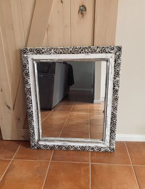 Distressed Etched Wooden Mirror for Sale in Oceanside, CA
