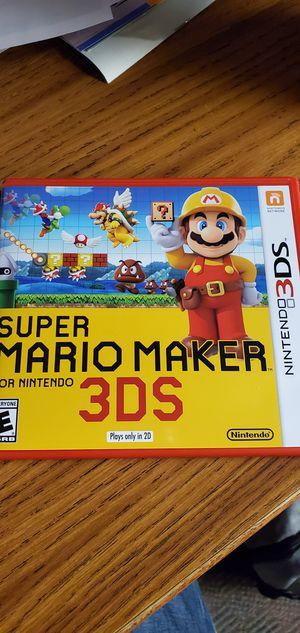 Super Mario maker 3ds for Sale in Springville, IA