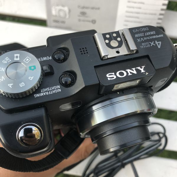 Sony Cyber-shot DSC-V3 7.2MP Digital Camera Tested And Working Black Handle. Condition is Used. Shipped with USPS Priority Mail. Sold as is