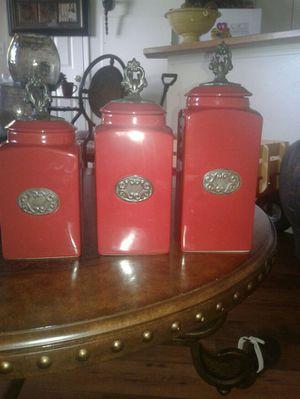 Store canistersfor kitchen/Elegante juego de jarros para cocina for Sale in Salt Lake City, UT
