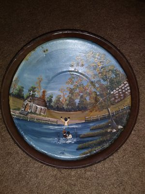 HAND PAINTED SKILLET THIS GOT ME THINKING ABOUT THE OLD DAYS for Sale in Montgomery, AL