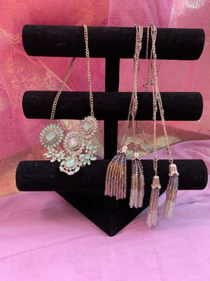 4$ each necklaces , tassel necklace, beaded necklace gem rhinestone. for Sale in Greenacres, FL