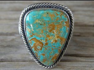 Stamped 925 Sterling Silver Natural Turquoise Ring for Sale in Wichita, KS