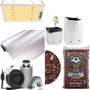 Complete Grow Kit 1000W LED Grow Light, Reflective Mylar, Carbon Filter In-line Fan, GrowBags, Soil for Sale in Warren, MI