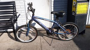 Beautiful blue shimmering Mountain sport road master w/ schwinn seat. Shimano e_speed shifting for Sale in Newton, MA