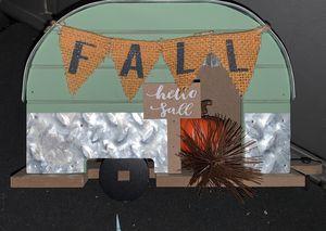 Metal/fin Fall Camper/trailer decor for Sale in Billerica, MA