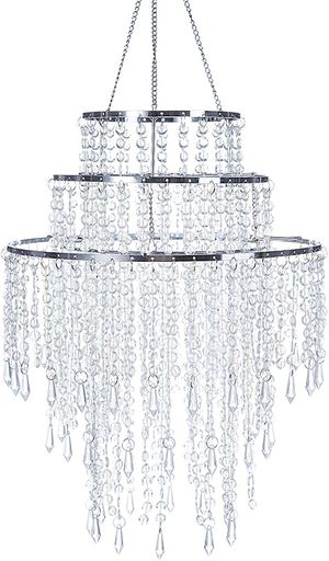 """3 Tiers Sparkling Beaded Pendant Shade Ceiling Chandelier with Chrome Frame 12"""" for Sale in Henderson, NV"""