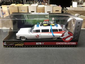 Ecto-1 Ghostbusters Hollywood Rides Metals Die Cast 1:24 Scale for Sale in La Habra, CA