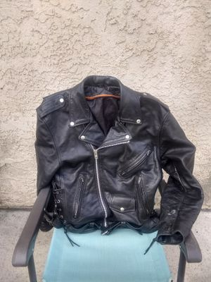 Custom Leather Jacket Medium size for Sale in Los Angeles, CA