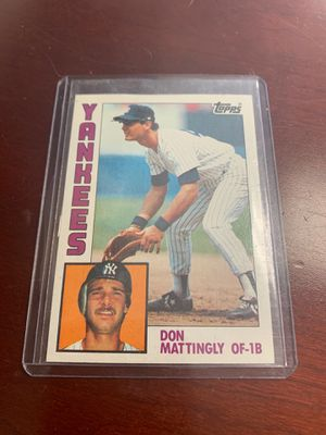 Throwback Don Mattingly Topps Yankees of 1B baseball card for Sale in Silver Spring, MD