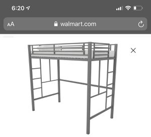 Twin size Metal loft bed (frame only) for Sale in Burien, WA