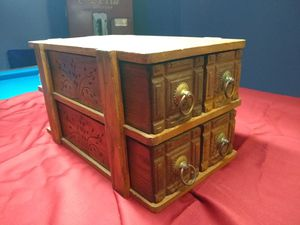 Antique desktop file cabinet for Sale in Bristol, PA