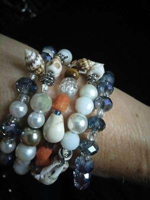 Women's stretch cord beaded handmade bracelets for Sale in Lakeland, FL