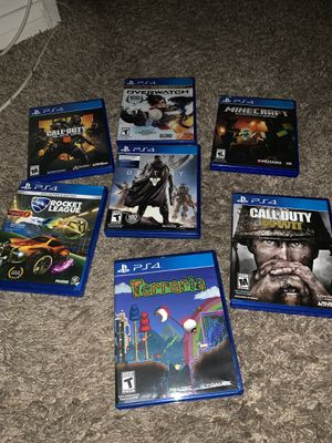 PS4 with headphones controllers games for Sale in Lincoln Acres, CA