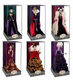 Disney Villain Designer Dolls - Complete Collectors Set for Sale in Columbia, MD