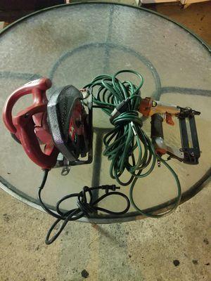 Skill saw, electrical cord, nail gun for Sale in Atlanta, GA