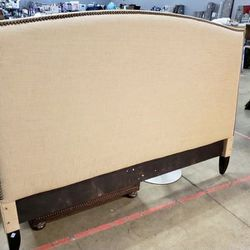King Sized Beige Fabric Headboard - Delivery Available for Sale in Tacoma,  WA