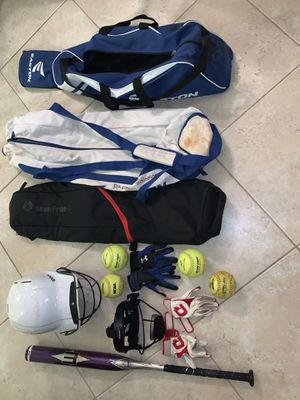 Softball equipment for Sale in Pompano Beach, FL