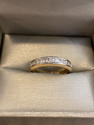 Unisex 18K Gold plated Ring - PriNce cut diamond for Sale in Houston, TX