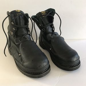 Georgia Boots: Metatarsal Steel Toe Black Leather Men Work Boots G8380 Size 13W for Sale in Brentwood, NC