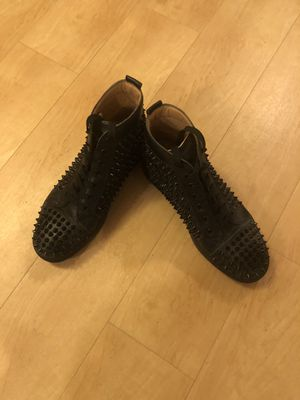 Christian Louboutin Men High Top Black Spikes Sneaker for Sale in Madison, WI