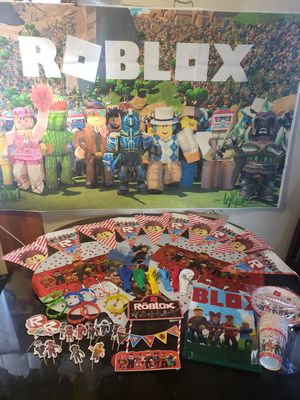 Roblox balloons Roblox decorations roblos party supplies for Sale in Bellflower, CA